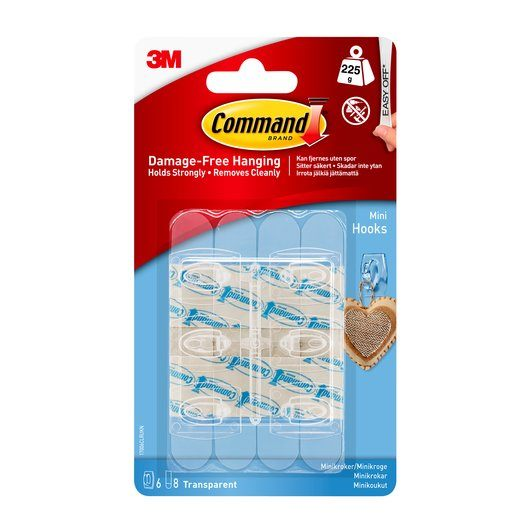Packet Of Command Line Mini Hooks From 3M